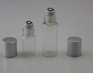 TP-3-23-2 2ml clear Roll On Bottles with plastic cover