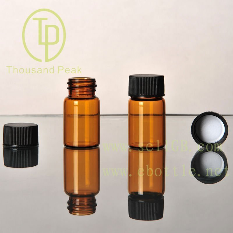 TP-1-06 3ml clear glass vials with cap and stopper