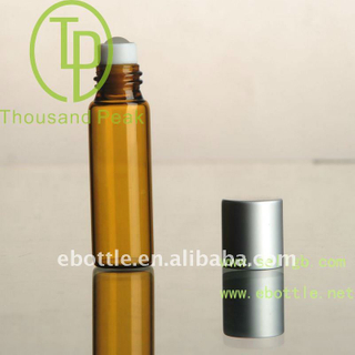 TP-3-22-1 5ml brown Roll On Bottles with aluminum cover