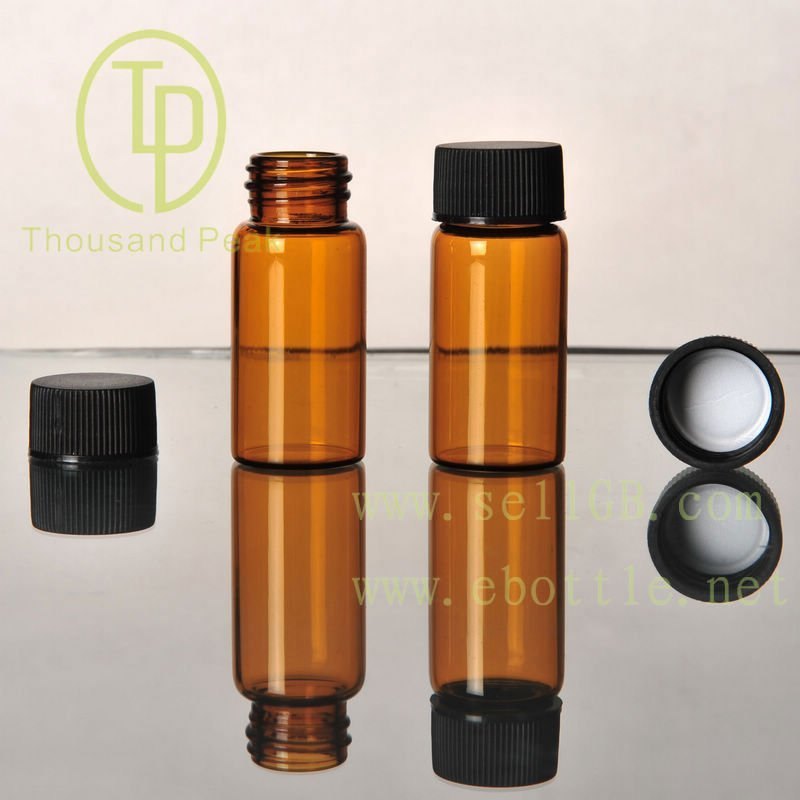 TP-1-10 10ml clear glass vial,glass bottle with pp cap and Liner,pe liner