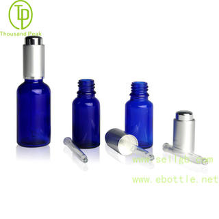 TP-2-27 cobalt Blue glass bottle with AL Press dropper