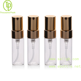 TP-3-60 3ml Refillable perfume bottle with gold Fine Mist Perfume Spray Pump