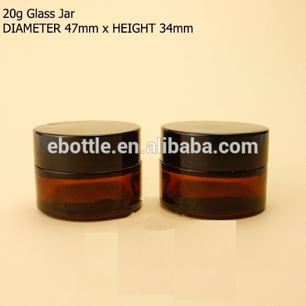 Glass Jars, Amber Glass Straight Sided Jars