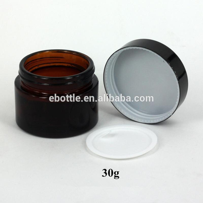 30g Amber glass jar cosmetic