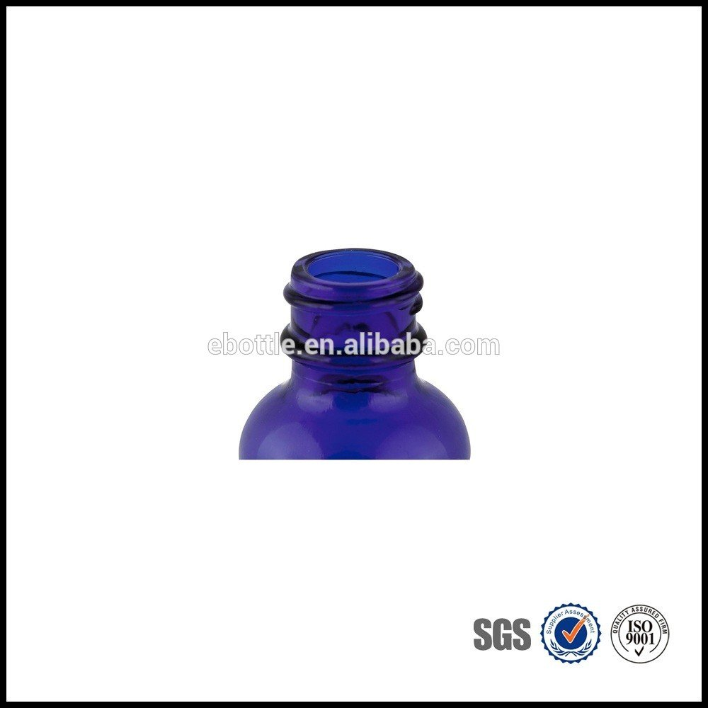 Hot Sale High Quality 30ML Blue Glass Bottle 20mm-400