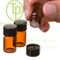 Mini roll on portable empty glass vials for essential oil
