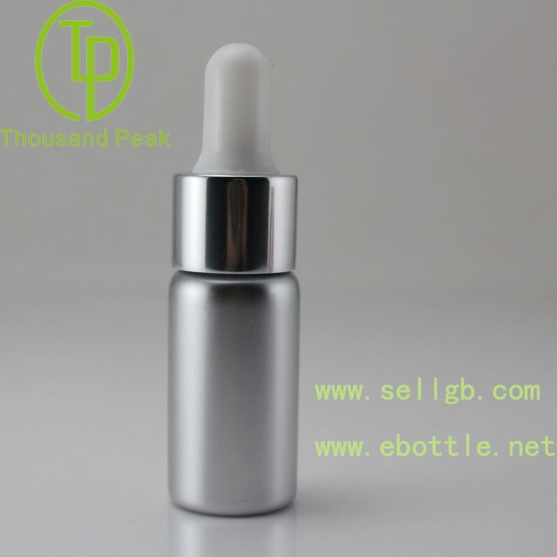 small amber glass cosmetic serum dropper bottle 15ml