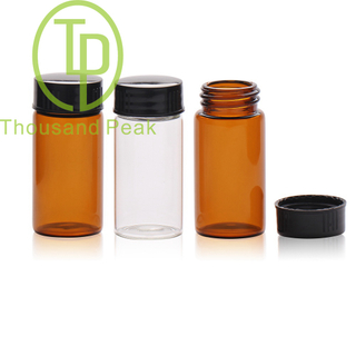 TP-1-11 20ml Brown glass vials with black cap