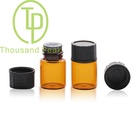 TP-1-08 5ml clear glass vials with black ca