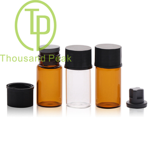 TP-1-07 3ml clear glass vials with cap and stopper