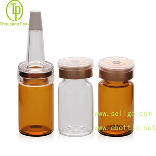 TP-2-04 cosmetic packaging tube 7ml facial care glass bottle with soft trumpet head