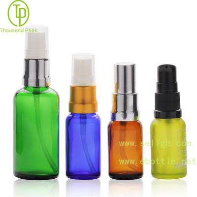 TP-2-50 Colorful cosmetic glass dropper bottle with pump