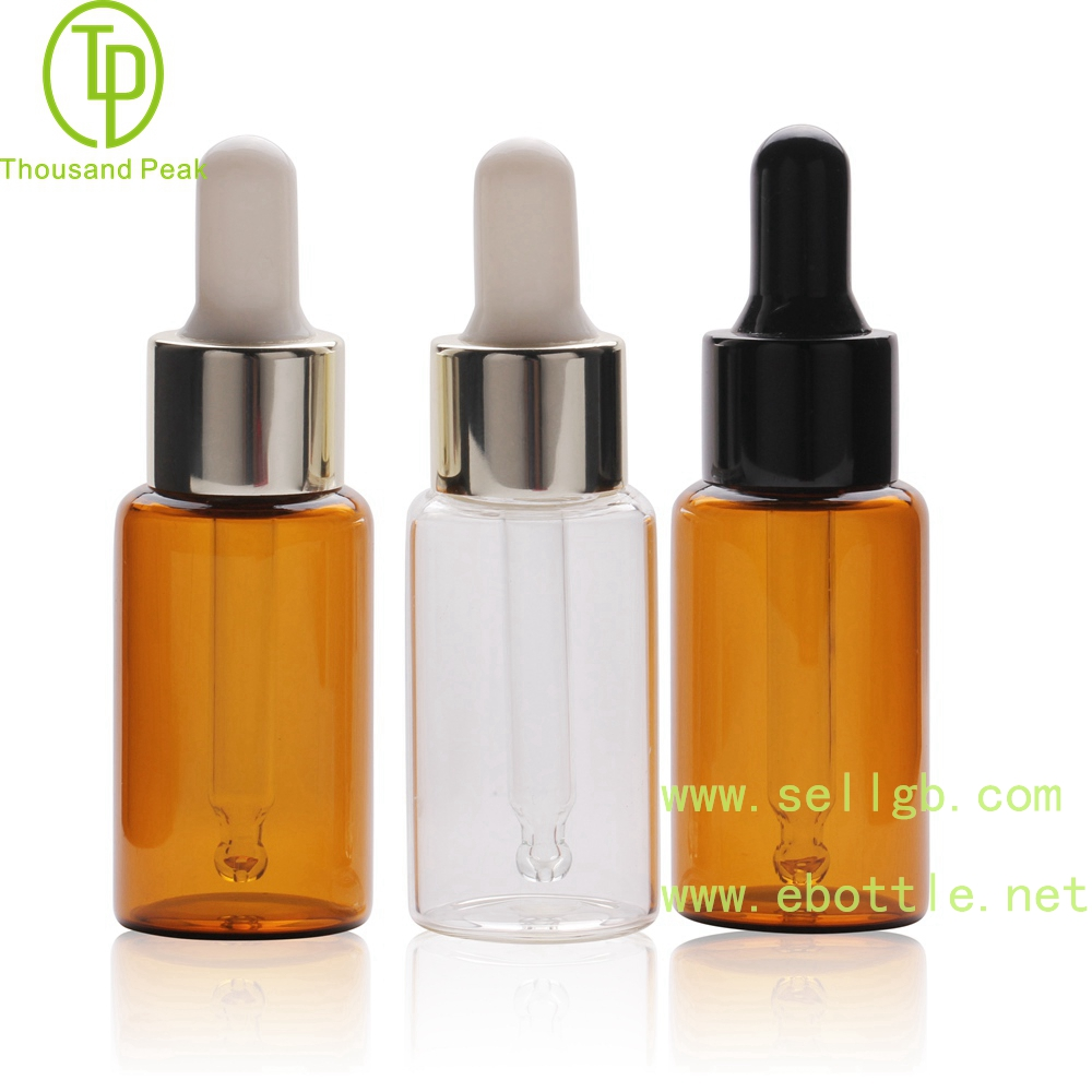 TP-2-148 15ml cosmetic glass dropper bottle 18-410 neck