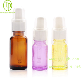 TP-2-52 Multi color Round cosmetic glass dropper bottle with clear cap