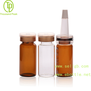 TP-2-05 cosmetic packaging tube 10ml facial care glass bottle with soft trumpet head