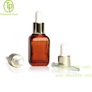 TP-2-33 30ml Square thick cosmetic glass dropper bottle